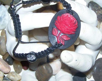 Cameo bracelet macrame jewelry