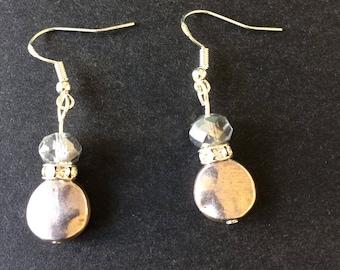 Handmade earrings using vintage beads
