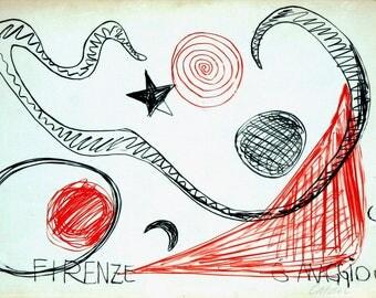 Alexander CALDER, Florence 1967, Color Lithograph, Multiple Print