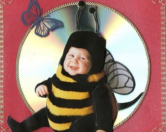 Baby Bee challenge 3D card make you smile