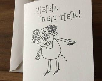 """Poople """"Feel Better"""" Card"""