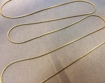5 meters of serpentine chains 0.70 mm bronze for creations of jewels