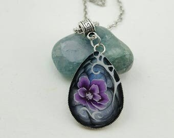 Necklace with pendant painted by myself
