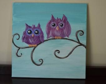 Original Owl Nursery Art - Unique Baby Shower Gift