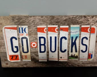 Ohio State Buckeyes License plate sign