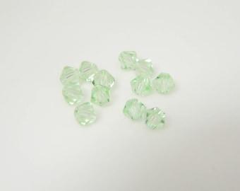 Lot 12 x 4mm (l497) chrysolite swarovski crystal bicone bead