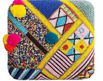 Embroided Box Clutch