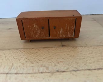 Dolls House television stand 10cm wide/4.5cm high