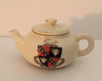 Arcadian China, Stoke on Trent, crested china tea pot