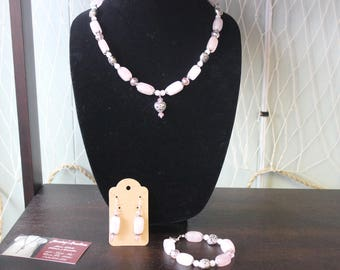 Rose Quartz Sweet Heart Necklace