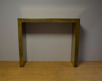 Solid brass, antique brass finish console