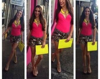 Hot Pink Bodysuit by Autentica Boutique