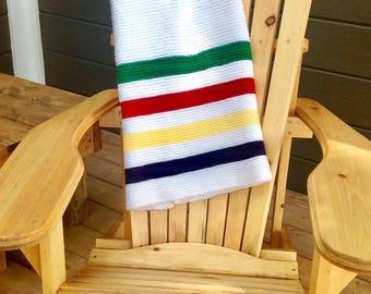 Modern Knitted Baby Blanket, HBC Inspired
