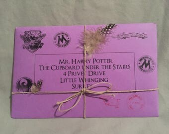 Hogwarts Acceptance Letter in Ministry of Magic lost mail envelope