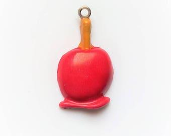 Pink love Apple x 1 polymer clay charm