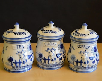 Delft Blue Canister Etsy