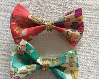 fabric bow Barrettes liberty betsy