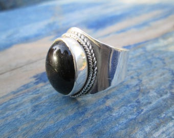 Bill silver ring with Black Onyx