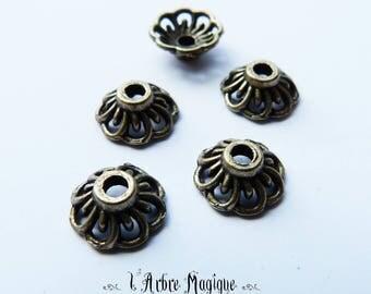 10 caps 10 mm bronze