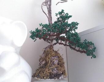 1 Beaded bonsai tree handmade gift, home decor