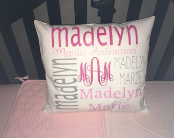 Customized Nursery Pillow Cover 18x18