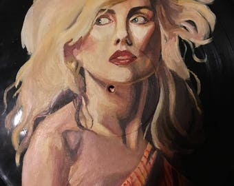 Debbie Harry Hand Painted Record