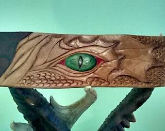 Leather dragon wristband
