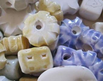 10 Ceramic Beads Handmade in Derbyshire
