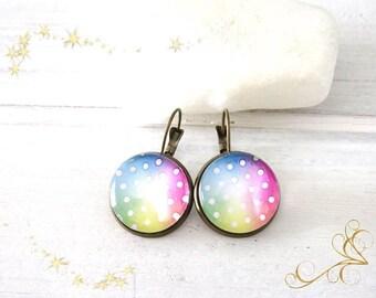 """""""Rainbow"""" Stud Earrings"""