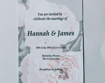 Peony Invitation Set *SAMPLE*