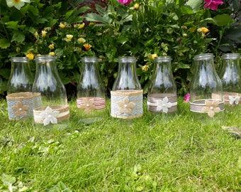 Rustic Milk Bottle Vase
