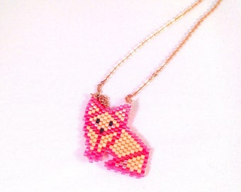 Fox half rose gold long necklace