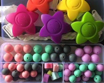 CUSTOM slot for a silicone-teether can be personalised-choose colours