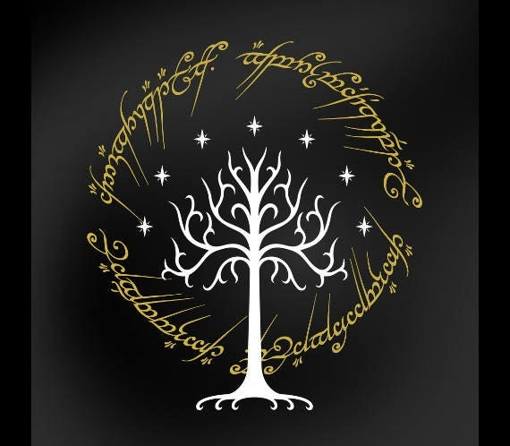 vector lotr lord of the rings tree of gondor inspired