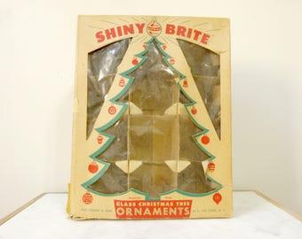 Vintage Shiny Brite Empty Ornament Box