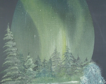 Oil Painting No: 005-Northern Lights