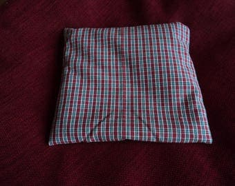 Small heating pad red and white Plaid cotton
