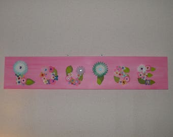 Table name in floral letters (10cm)
