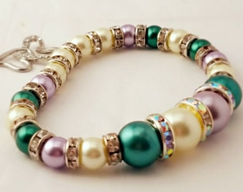Multi-Colored Pearl Bracelet
