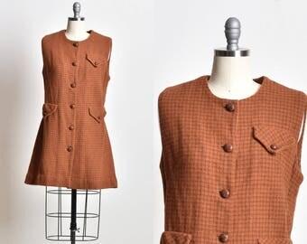 Wool dress, Knitted dress, winter dress, warm dress, woolen dress, brown dress, sleeveless dress, office dress, xmas gift, gift for her