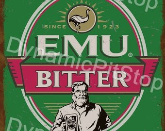 30x40cm Emu Bitter Rustic Tin Sign