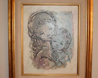 Original Oil Painting by listed artist Ozz Franca- Disney artist!