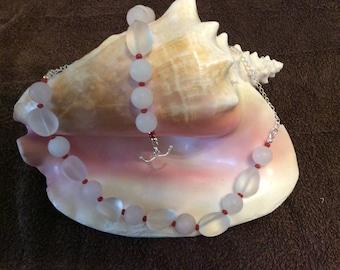 Clear Quartz and Rose Quartz Necklace and Bracelet