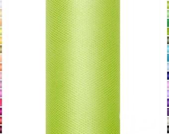 9 mètres de Tulle vert 556  15 cm de largeur vendu à la bobine