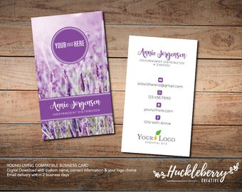 Young Living Business Cards, Young Living Independent Distributor, Essential Oils, 3.5x2, Digital Download
