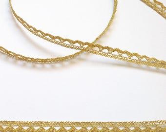 Lace polyamide Lurex Gold 7mm