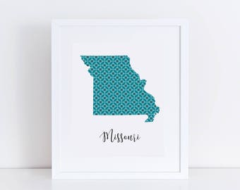 Missouri Printable / Missouri Wall Print / Printable Missouri Art / Printable State Art / Missouri Silhouette / Missouri Printable Poster