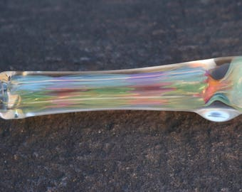 Rainbow Sky Chillum - Handblown Fume Color Changing Glass Tobacco Smoking Onie Pipe