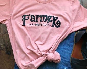 Christian T-Shirt|Farmer|Verse T Shirts|Fun Women's Tshirt| T Shirts|Ladies T Shirt|Fun T Shirts|Cute Shirts|Unique Shirts