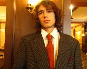 Men's Designer Fiori Vintage 60's/ 70's Double Breasted Tweed Sport Coat